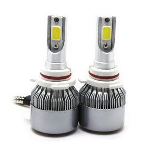 Set 2 LED-uri Auto HB4 9006 72W 7600 Lumeni 6500K C6