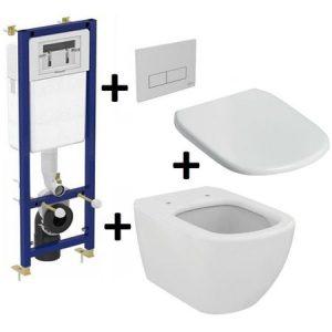 Pachet Complet Sistem WC Suspendat Ideal Standard Tesi AquaBlade