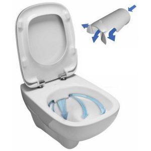 Pachet Kolo Nova PRO Rimfree - Vas WC Suspendat + Capac cu Inchidere Lenta (fara rama - igiena totala)