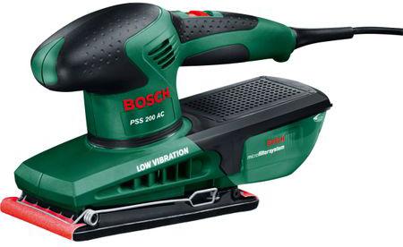 Slefuitor cu vibratii Bosch PSS 200 AC, 200W, valiza plastic