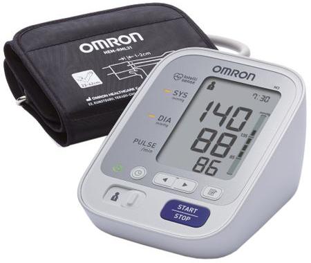 Tensiometru Omron M3 + Adaptor Priza, Alb