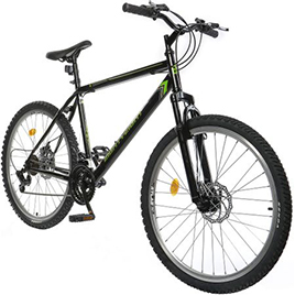 Bicicleta MTB 26 EightyEight, marime cadru L, negru-verde