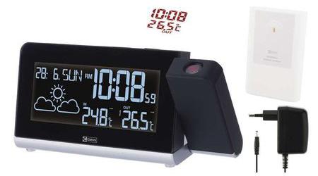 Statie Meteo Wireless Emos E8466 cu Ceas, Alarma si Proiectie Luminoasa
