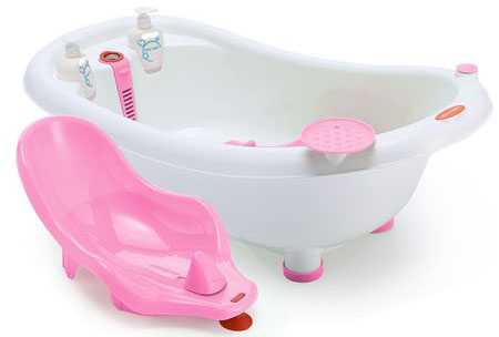 Cadita Ergonomica cu Reductor Detasabil si Termometru Little Mom Pink
