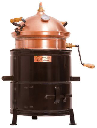 Cazan Tuica Destilatori Hobby 25 Litri, Focar Lemne sau Gaz