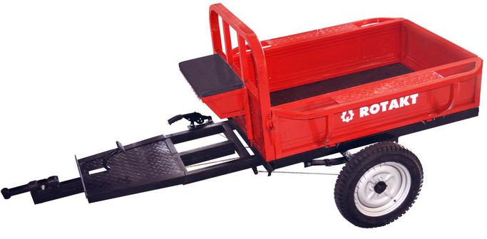 Remorca Motocultor Rotakt REM400, Capacitate 400 kg, Basculabila