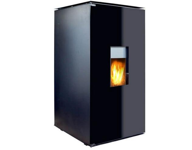Termosemineu pe Peleti cu Agent Termic Fornello 25 kW Black Glass Special Edition