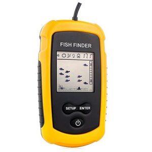 Sonar Fish Finder Portabil cu Ecran LCD, Adancime Pana la 100 m