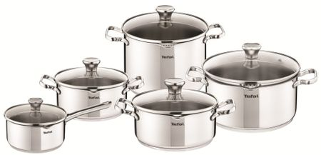 Set 10 Piese Tefal Duetto, Inox