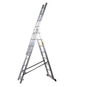 Scara aluminiu 3 tronsoane 3x9 trepte, profesionala
