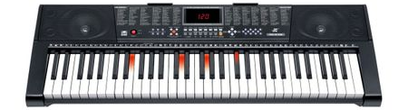Orga Electronica 61 de Clape Luminate Led MK-2108, Functii Invatare, Redare USB si Jack, Inregistrare