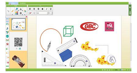 Tabla Interactiva IQBoard Premium 83, Diagonala 210 cm - Software Lb. Romana si Suprafata Pentru Markere