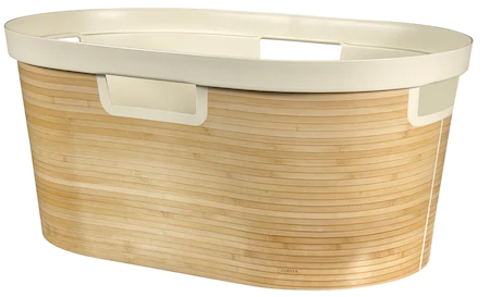 Cos de Rufe Curver Infinity Bamboo Culoare Alba, 40L