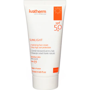 Crema de Fata cu Protectie Solara Ivatherm Sunlight SPF 50+, 50 ml