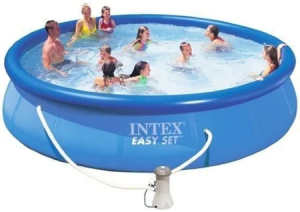 Piscina Intex Easy Set cu Inel Gonflabil Sistem de Filtrare Inclus