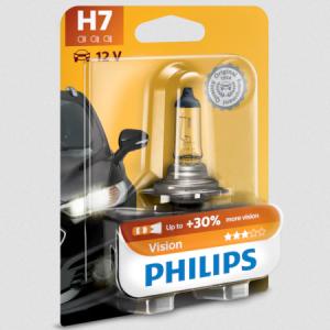 Bec Auto cu Halogen Pentru Far Philips H7 Vision