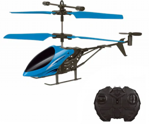 Elicopter cu Telecomanda, 17.5x3x10 cm, Albastru