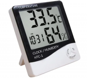 Higrometru Si Termometru de Camera cu Ceas si Ecran LCD Mare