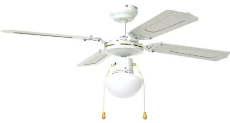 Ventilator de Tavan cu Lustra, E27, 50W, 3 Viteze, Fixare Tavan