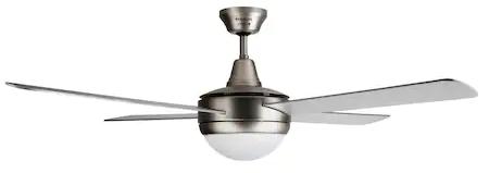 Ventilator de Tavan cu Lustra si Telecomanda Taurus Fresko 4B, 70 W, 4 Palete, Diam. 132 cm, Finisaj Metalic, 3 Viteze