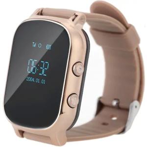 Ceas Smartwatch cu Telefon iUni Kid58, GPS, Gold