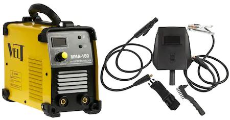Invertor de Sudura Industrial Velt MMA 160, 160 A, 230 V, Electrod 16-4 mm, 4 5 kg, Accesorii Incluse