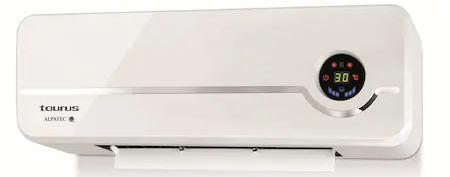 Aeroterma ceramica de perete Taurus Alpatec RCMB 23. 2000W, 2 trepte de putere, Timer 8 ore, LED display