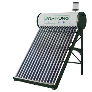 Panou solar apa calda, nepresurizat, RAINUNG, 150L, 15 tuburi vidate mari, vas flotor, kit panouri solare integrate nepresurizate