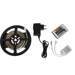 Kit banda LED Flink, 2.5 m, Multicolor + Adaptor alimentare + Controler + Telecomanda